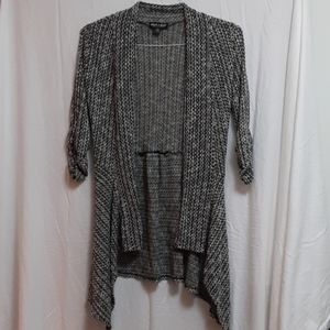 Asymmetric Ruffle Open Front Cardigan